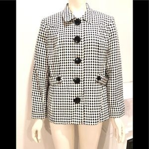 Style & co Fully lined Peacoat black & white 16P